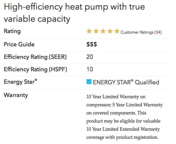 xp20 specs Lennox Heat Pumps