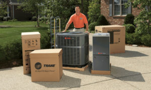 New heating and air conditioning system